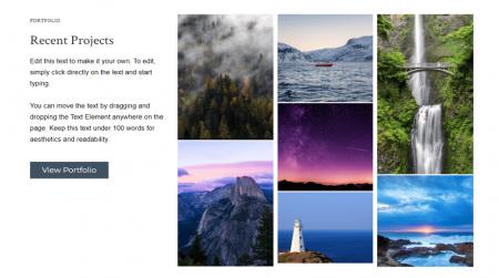 weebly portfolio theme js photography recent work