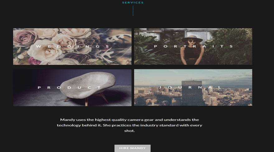weebly template personal mandy miller hire me