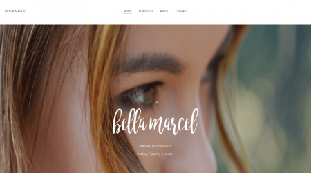 weebly personal theme bella marcel home