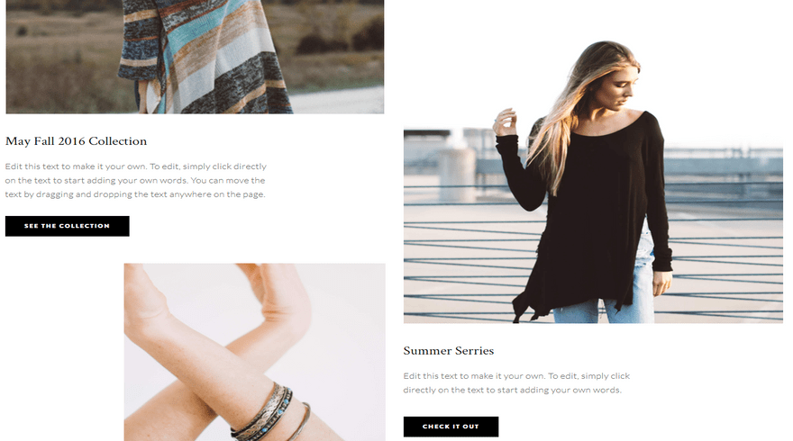 weebly personal theme bella marcel image and text