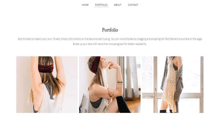 weebly personal theme bella marcel portfolio