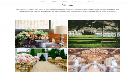weebly events theme john and maggy venue gallery