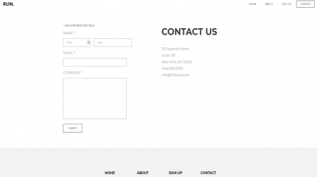 weebly events theme run contact