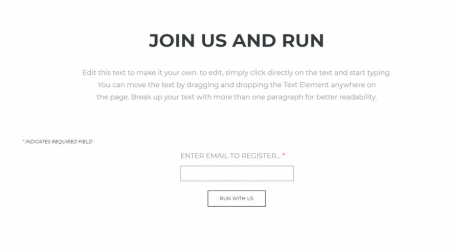 weebly events theme run registration