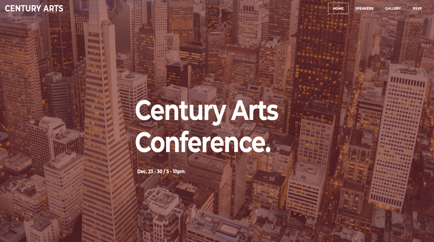weebly events theme century arts home