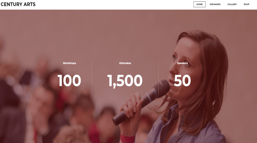 weebly events theme century arts quick facts