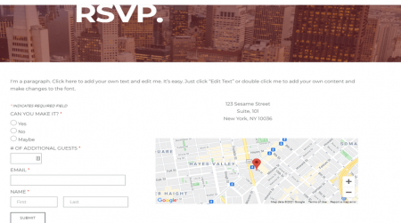 weebly events theme century arts rsvp