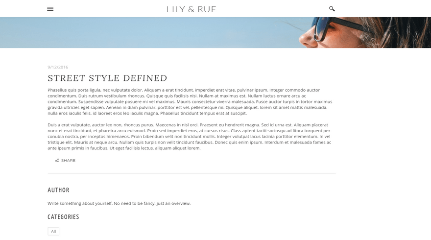 weebly blog template lily and rue blog