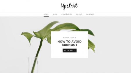 weebly blog theme upstart home