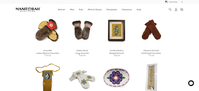 Manitob Mukluks online Shopify store example