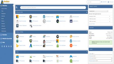 hostgator cpanel hosting dashboard