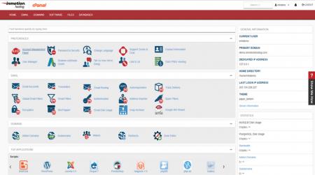 inmotion cpanel hosting dashboard
