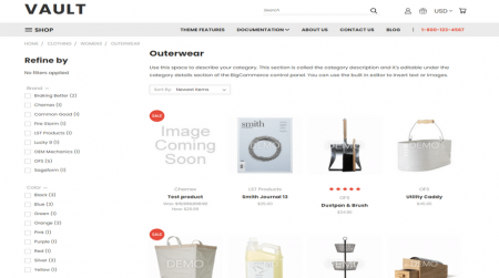 bigcommerce fashion theme vault bright product page