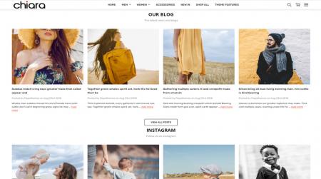 bigcommerce chiara fashion theme blog and social