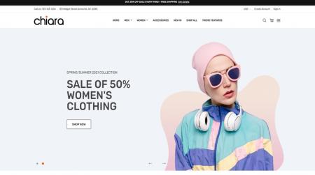 bigcommerce chiara fashion theme home