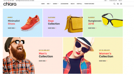 bigcommerce chiara fashion theme interactive grid