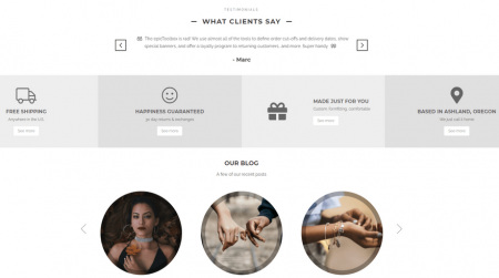 bigcommerce fashion luna warm customer experience