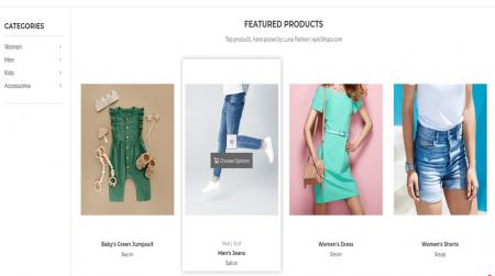 bigcommerce fashion luna warm featured products