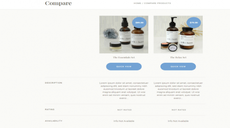 bigcommerce health and beauty soho light theme compare products