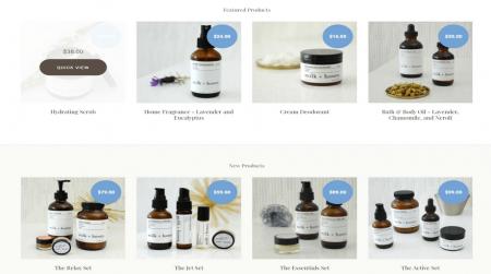 bigcommerce health and beauty soho light theme products