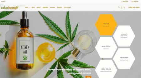 bigcommerce health and beauty solar hemp home