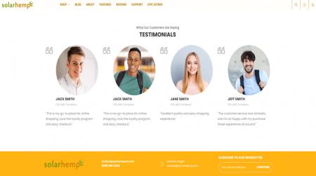 bigcommerce health and beauty solar hemp testimonials