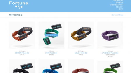 bigcommerce electronics fortune bright product page