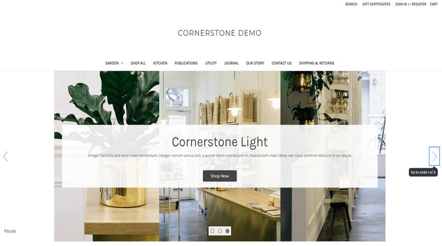 bigcommerce home and garden cornerstone light home