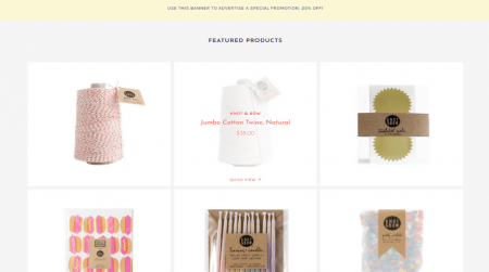 bigcommerce gifts scales pop featured products