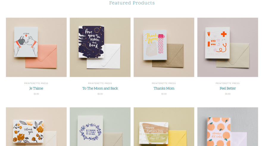 bigcommerce gifts bespoke cool featured products