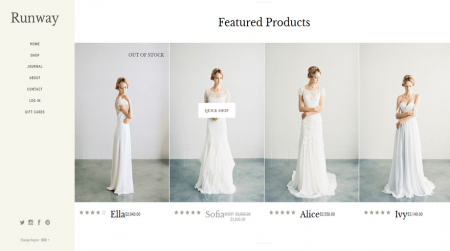 bigcommerce specialty runway warm featured products