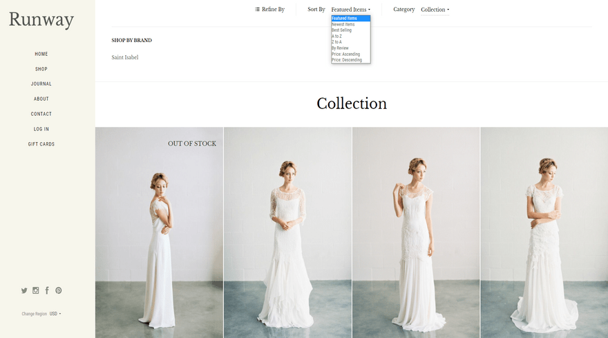 bigcommerce specialty runway warm product collection