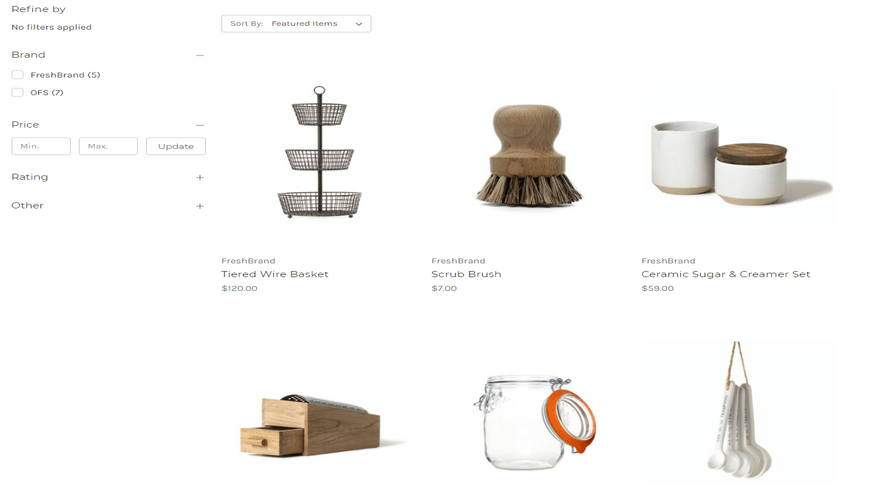 bigcommerce home and garden cornerstone light product page