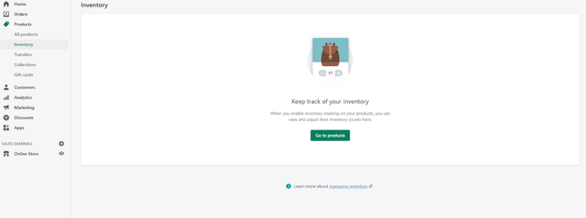 Shopify Inventory