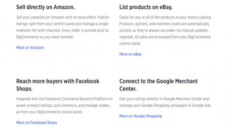 bigcommerce ecommerce sales channels