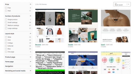 shopify ecommerce platform templates