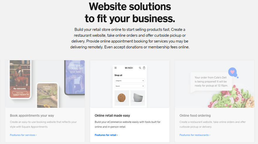 square online ecommerce platform features