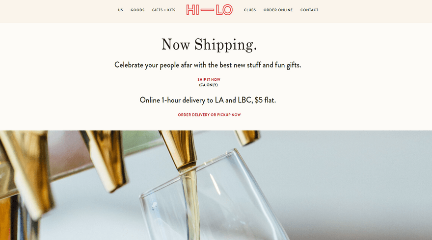 square online example hi-lo market