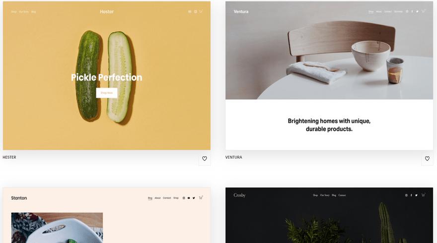 squarespace ecommerce platform templates