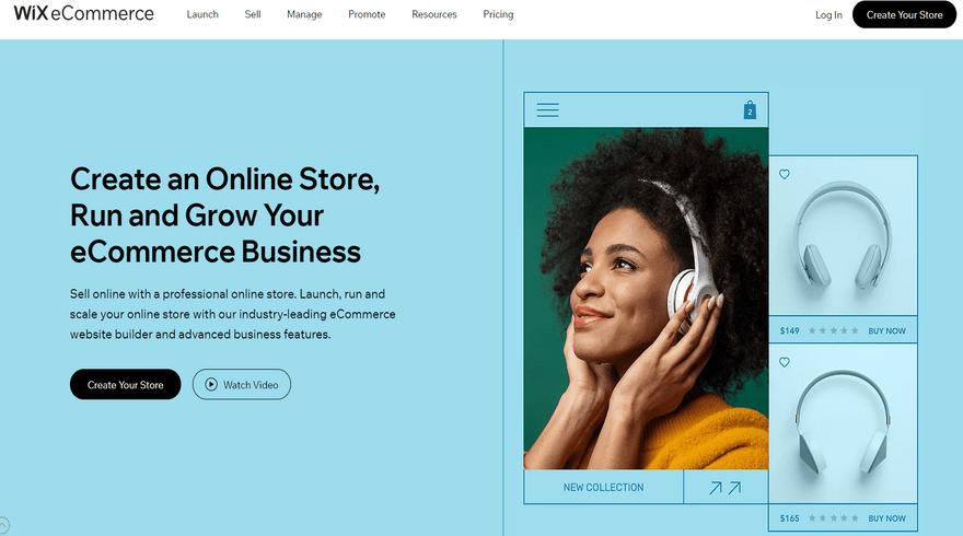 wix best ecommerce platform home