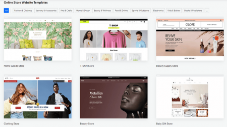 wix best ecommerce platform templates