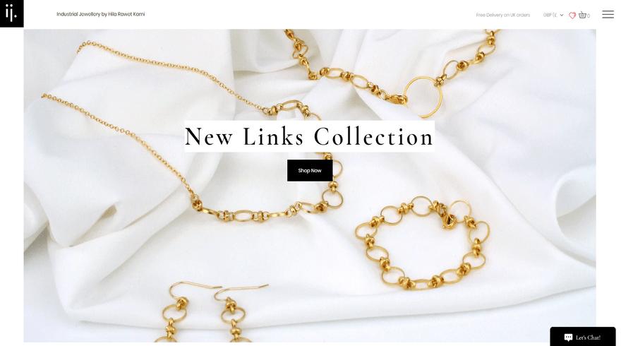 wix online store example industrial jewellery