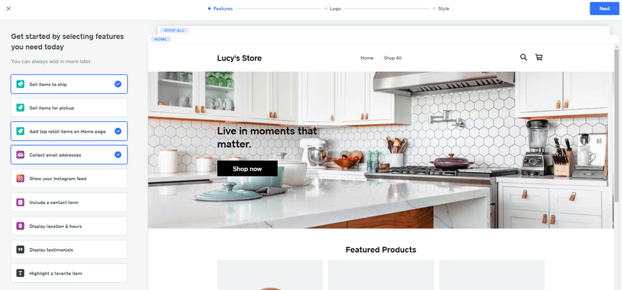 shopify vs square online onboarding site setup features