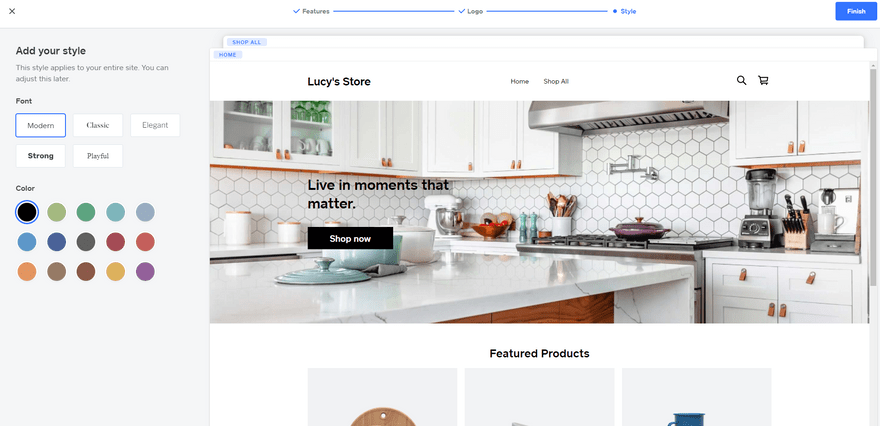 shopify vs square online onboarding site setup style