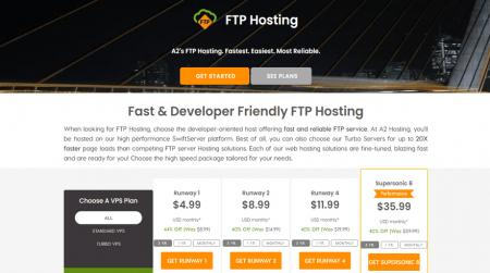 affordable ftp a2 hosting vps plans