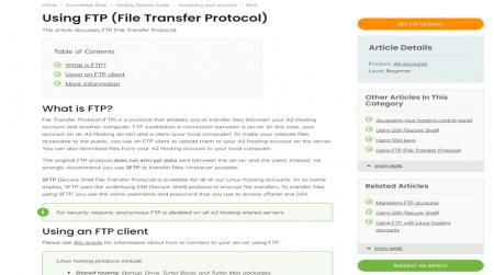 affordable ftp hosting a2 hosting support
