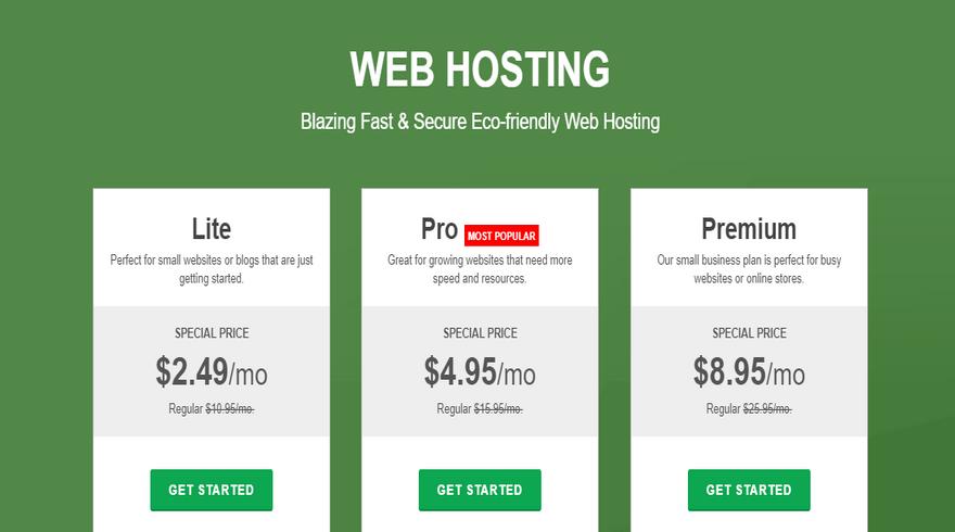 best green ftp hosting greengeeks shared plans