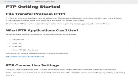 best uptime ftp hostgator support