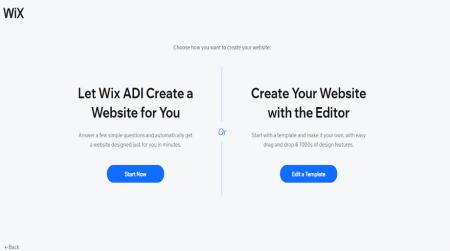 Wix editor or ADI