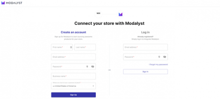 Connect with Modalyst
